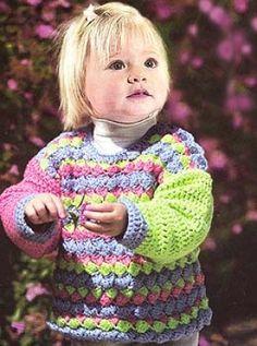 crochet baby sweater - free pattern