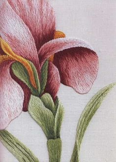 CHL Design: Silk Shading from the Royal School of Needlework Silk Ribbon Embroidery, Crewel Embroidery, Hand Embroidery Patterns, Cross Stitch Embroidery, Machine Embroidery, Embroidery Designs, Russian Embroidery, Embroidery Fashion, Needlepoint Stitches