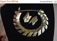 Gold Bracelet Earrings Set  Vintage Chevron gold toned Designer bracelet Featuring Matching Clip on Earrings Mid Century Moder