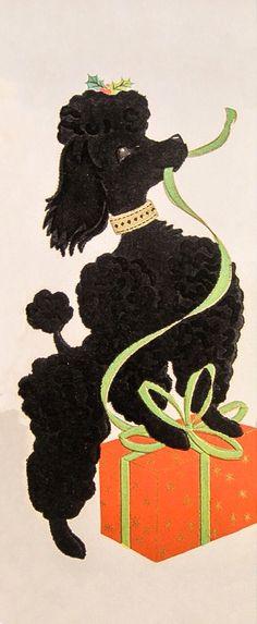 Christmas poodle.