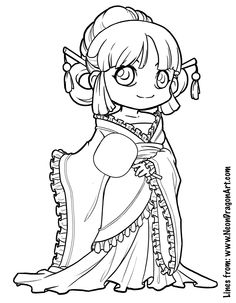 chibi pictures to color - Google Search