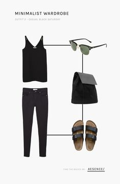 Via @aesencecom   Minimal wardrobe