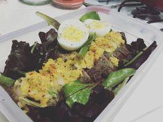 Tri-Tip Salad with Roasted Mango Garlic Salsa ft. Ann (394 calories)