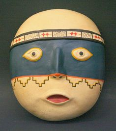 Ceramic Wall Mask Hand Made Traditional Peruvian Culture Art | eBay