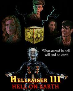 Hellraiser 3 Hell On Earth Horror Movie Fan Made Poster