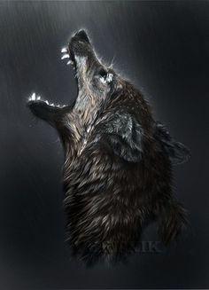 Wolf& spirit by ~Vertnik on deviantART Wolf Background, Fantasy Background, Wolf Deviantart, Angry Wolf, Demon Wolf, Wolf Artwork, Wolf Spirit Animal, Werewolf Art, Wolf Wallpaper