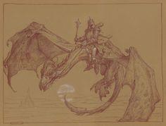 Nazgul and Winged Beast - Donato Giancola