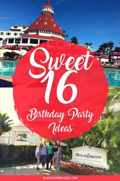 "Fun Sweet 16 Birthday Party Ideas - A ""Suite Party - 2 Dads with Baggage Sweet 16 Birthday, 16th Birthday, Birthday Fun, Hotel Birthday Parties, Hotel Party, Sweet 16 Sleepover, Sweet 16 Parties, Birthday Activities, Party Activities"