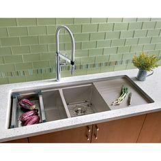 Shop BLANCO Precis Double-Basin Undermount Granite Kitchen Sink at Lowes.com
