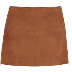 Jonathan Saunders Debbie suede mini skirt found on Polyvore