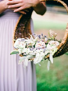 Bohemian Equestrian Styled Shoot - Fab You Bliss Cascade Bouquet, Cascading Bouquets, Grandmas Garden, Lavender Cottage, Garden Wedding Inspiration, Flower Basket, Equestrian Style, Color Themes, Lilac