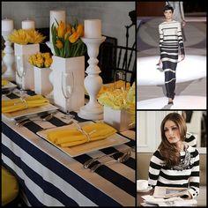 black and white stripes + yellow!