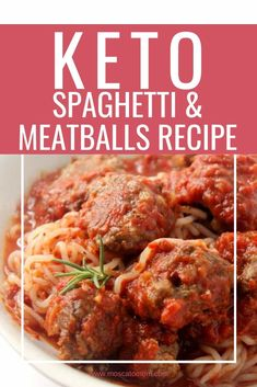 Keto Spaghetti and Meatballs is the keto comfort food for everyone. Full of flavor and easy to make, low carb meatballs are a great way to stay on track with the keto diet. Spaghetti Dinner, Spaghetti And Meatballs, Spaghetti Recipes, Meatball Recipes, Beef Recipes, Cooking Recipes, Low Carb Keto, Low Carb Recipes, Keto Meatballs