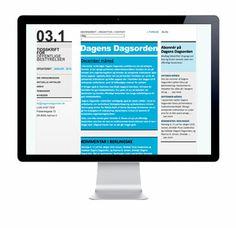 Logo, web og grafikopsætning til Dagens Dagsorden / Udarbejdet af grafisk designer Anne Mark Møller / Designbureauet Anetmai