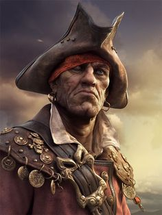 [image] Title: A Pirate Name: Sergey Samuilov Country: Bulgaria Software: ZBrush Sculpted in Zbrush, rendered in ray. Images Pirates, The Pirates, Pirates Cove, Pirate Art, Pirate Life, Pirate Theme, Pirate Ships, Pirate Crafts, Pirate Birthday