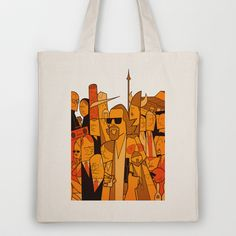 The Big Lebowski Tote Bag by Ale Giorgini - $18.00