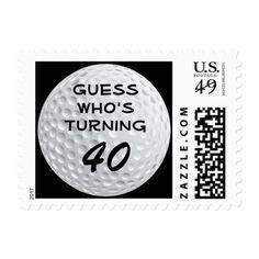 Golf Ball Sports Funny Birthday Party Celebration Postage