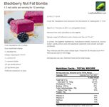 Lots of sweet and/or savory fatbomb ideas Blackberry Nut Fat Bomb recipe card