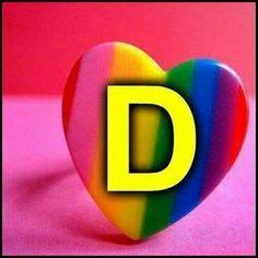 Rainbow  heart D