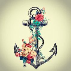 Anchor and flowers posted by lorivodkaandcroissants.tumblr.com
