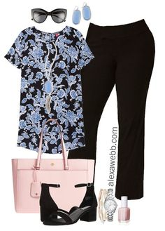 Plus Size Spring Work Outfit - Plus Size Workwear - Plus Size Fashion for Women - alexawebb.com #alexawebb #plussize #plussizeworkwear