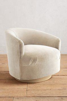 Anthropologie Home: Velvet Amoret Swivel Chair $1200