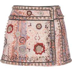 Isabel Marant Jeffrey printed cotton-blend wrap mini skirt (€780) ❤ liked on Polyvore featuring skirts, mini skirts, bottoms, saias, gonne, bright pink, pink wrap skirt, pink sequin skirt, short sequin skirt and short pink skirt