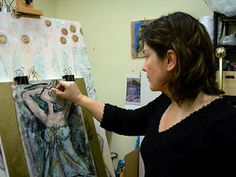 #artiststudio of Julia Trops #Artist who Celebrates the Strength and Confidence of the Female Form  Interview with Figurative Painter Julia Trops  by Miriam Schulman on http://schulmanart.blogspot.com/2012/01/artist-who-celebrates-strength-and.html