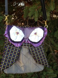 Owl Purse Hobo Bag Shoulder Bag made with black by lvcreativity, $45.00