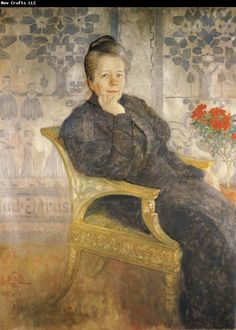 Painting by Carl Larsson: of Selma Lagelof ( famous swedish author), 1908