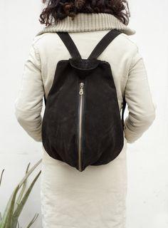 Minimalist Backpack MInimal Rucksack Zipper backpack by NagaLab