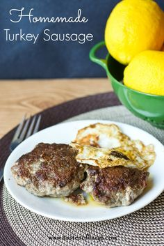 Homemade Turkey Sausage {Tastes of Lizzy T} Lean ground turkey with the perfect blend of spices!  Healthier than store-bought sausage. http://www.tastesoflizzyt.com/2013/09/07/homemade-turkey-sausage/