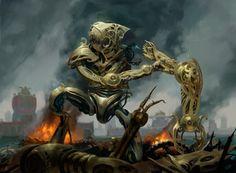 Aether Revolt MtG Art - Art of Magic: the Gathering Fantasy Images, Fantasy Art, Mtg Art, Alien Races, Steampunk Design, Creature Concept, Science Fiction Art, Knight Armor, Dieselpunk
