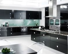 Kitchen Pine Cabinets Ideas With Dark Massive Plant Pot Under Black Framed Top White Cermiac Floor Tiled Brown Wooden Laminate Flooring Stainless Steel Cabinet Refrigerator Be Luxurious and Elegant with Design