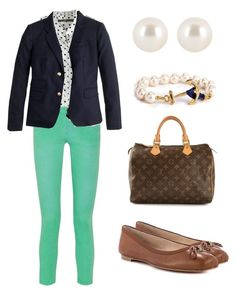 """""""Going to the Fall Play"""" by pigpen777 ❤ liked on Polyvore featuring Pierre Balmain, J.Crew, Sam Edelman, Henri Bendel and Louis Vuitton"""