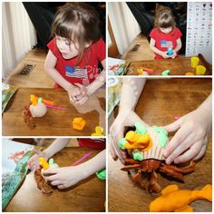 Playdough House for Hermit Crab by Eric Carle