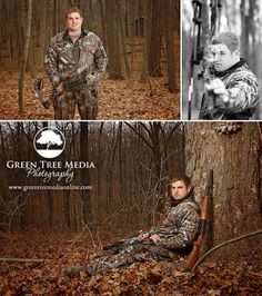 Senior guys who love to hunt - don't forget to include your hunting gear in your senior photos! Sam brought his shot gun and bow so we could document his love of hunting!