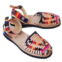 5cef6449ad64 Women s Traditional Mayan Strapped Woven Leather Huarache Sandals - Ix Style  - Water For Children Huaraches