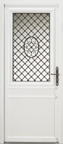 Porte bois semi vitr e portes et fen tres pvc bois et for Imposte pour porte d entree