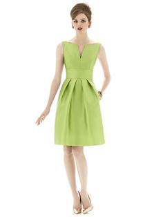 Alfred Sung D654 Sample Sale Bridesmaid Dress in Light green
