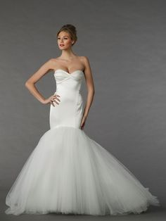 Sweetheart Mermaid Wedding Dress  with Natural Waist in Satin. Bridal Gown Style Number:33050444