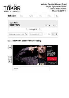 Rashid_Revista Billboard Brasil_Agenda de Shows-Maio2015 | por Inker Agência