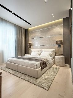 Contemporary Bedroom DesignEye Candy: 12 Drool-worthy Modern Home Libraries and…Bedroom Design Idea – Place Your Bed On Elegant and Modern Master Bedroom Design Ideas 2018 Modern Master Bedroom, Modern Bedroom Decor, Trendy Bedroom, Contemporary Bedroom, Home Bedroom, Bedroom Ideas, Bedroom Classic, Bedroom Small, Minimalist Bedroom