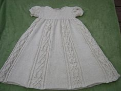 knitted baptism gown pattern - Bing Images