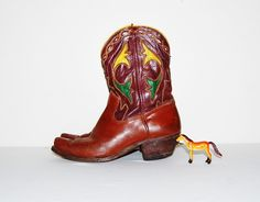 SALE.......Vintage Boots Acme 1950's Inlay by CheekyVintageCloset