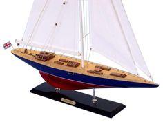 "Wooden Endeavour Limited Model Sailboat Decoration 50"""