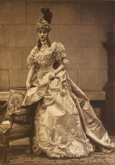 """This is the Duchess of Marlborough, in the role of """"the wife of the French Ambassador at the court of Catherine the Great of Russia"""". The Duchess was formerly Consuelo Vanderbilt an eligible American heiress who was apparently forced into her marriage (to the 9th Duke of Marlborough) by her mother. The marriage ended in divorce in 1921. She remained friendly with some members of her husband's family including Winston Churchill."""
