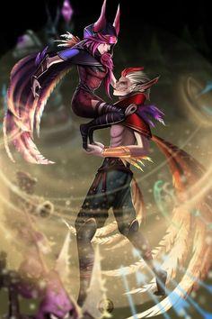 Xayah and Rakan art,so amazing Rakan League Of Legends, League Of Legends Game, League Of Legends Characters, Fictional Characters, Borderlands Moxxi, Liga Legend, League Memes, Mobile Legends, Videogames