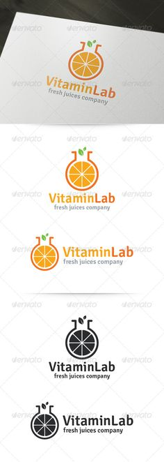 Vitamin Lab Logo #GraphicRiver About The Vitamin Lab Logo Template: A fresh and healthy logo template for various business purposes. You can edit all text and colors very easy. 100% scalable and ready for print! What's in the download? A unique, fully editable and resizable vector logo. Vertical and Horizontal variations Black and white version Illustrator AI file (CS and higher) Illustrator EPS10 file (CS and higher) Readme file with font download info Need any help? Fo...