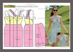 cute dress pattern, with or without the strappys